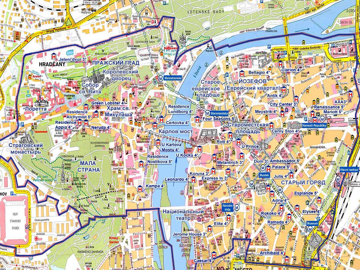 Карта праги купить
